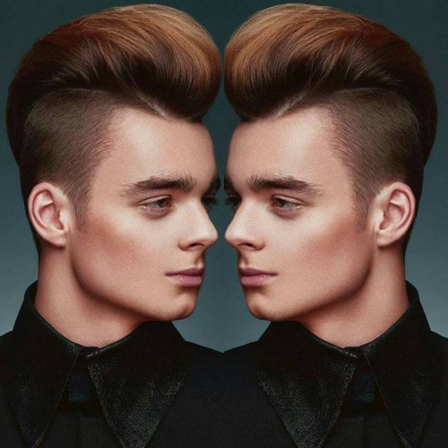 Silky Copper Brown Hairs with Undercut