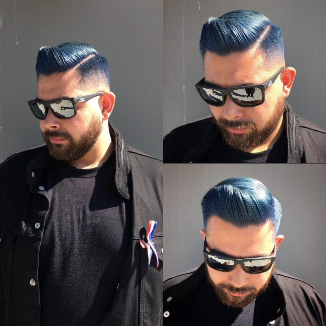 Sleek Blue Quiff