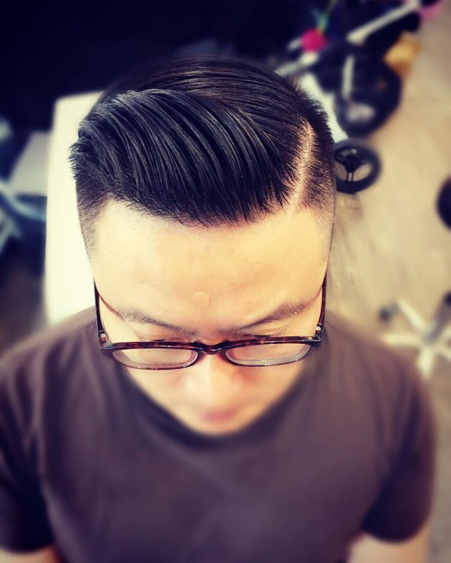 Sleek Short Faded Pomp