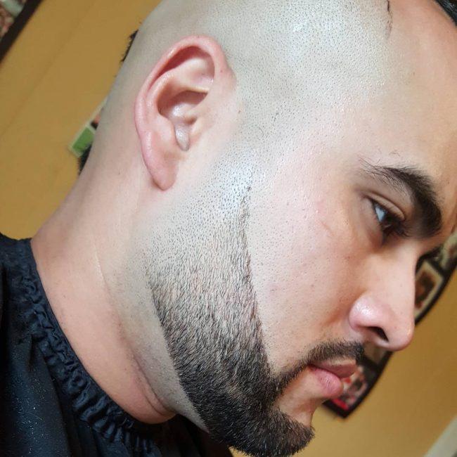 Stylish Bald Fade