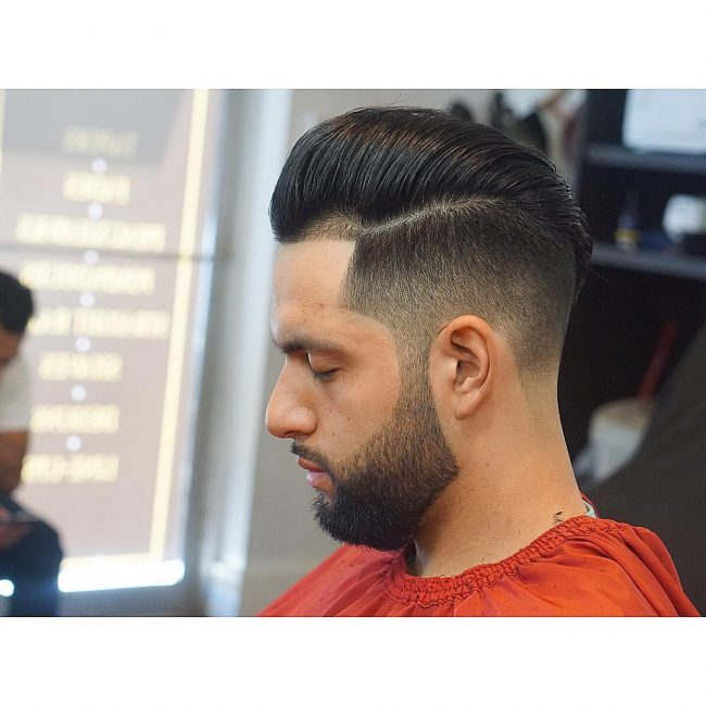 Taper Fade and Extended Goatee