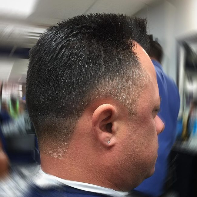 Tapered Flat Top with Line Up