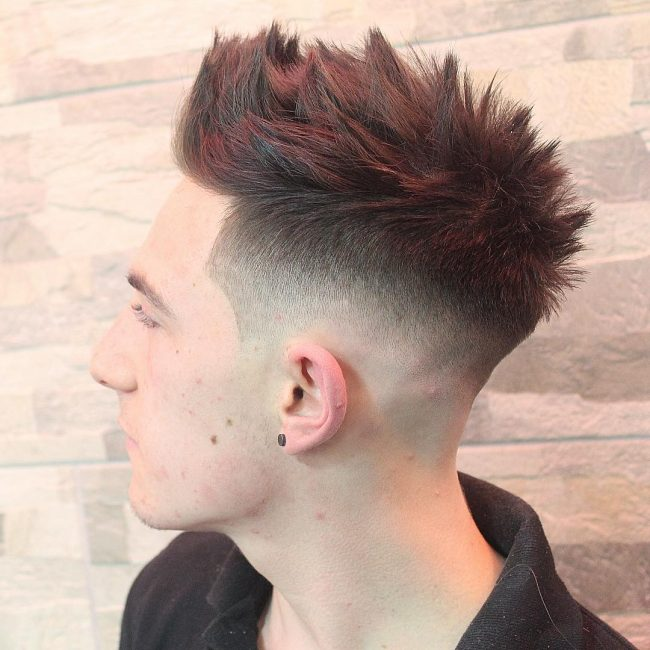 Textured Locks with a Drop Fade