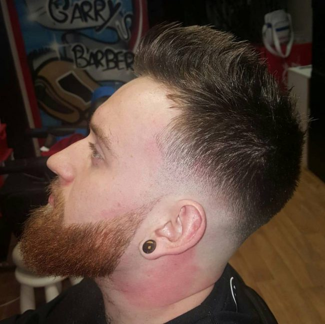 Upswept Spikes and Skin Fade