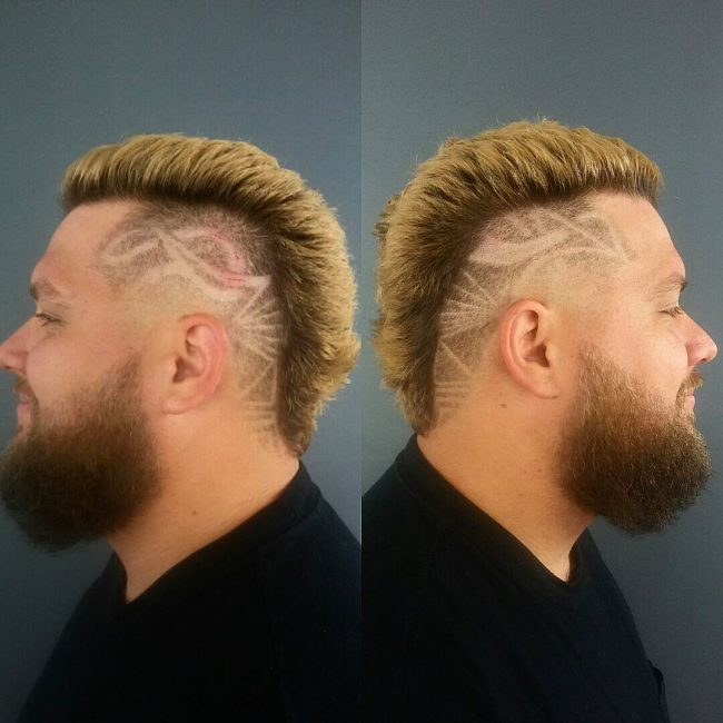 Viking Look with Intricate Razor Lines