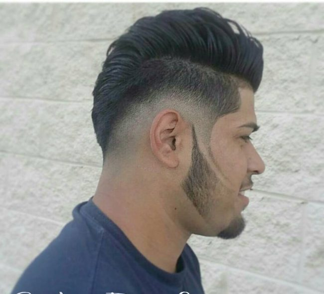 Voluminous Pompadour Bangs