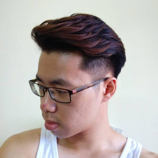 Wavy Chocolate Brown Faux Hawk
