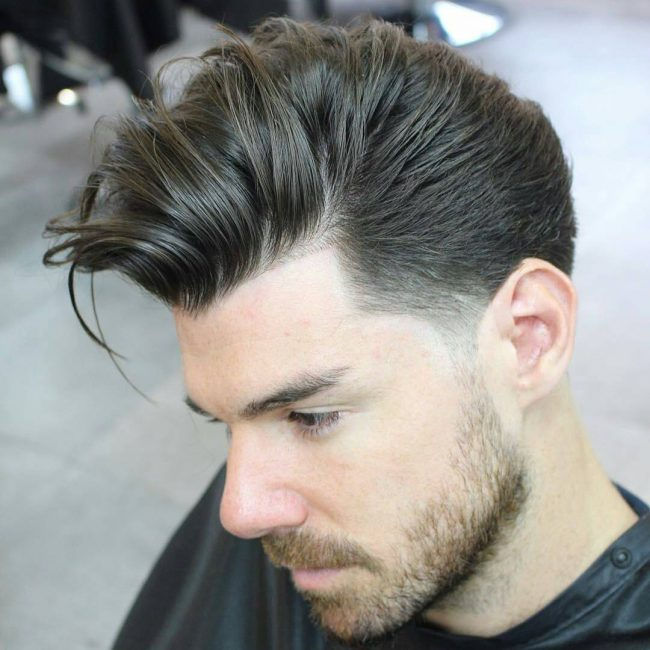 1 Tapered Comb Over