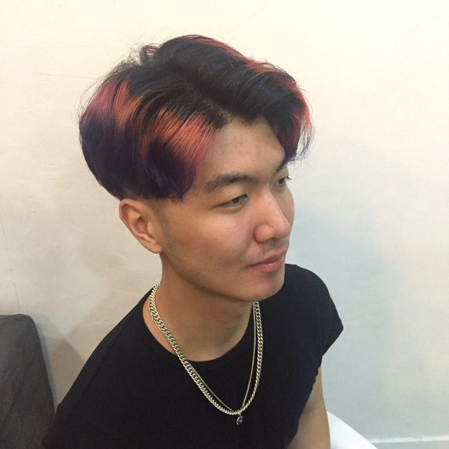 Stylish Colored Combover
