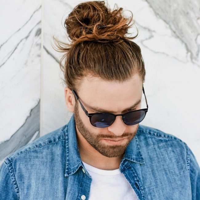 21 Loose and Messy Man Bun