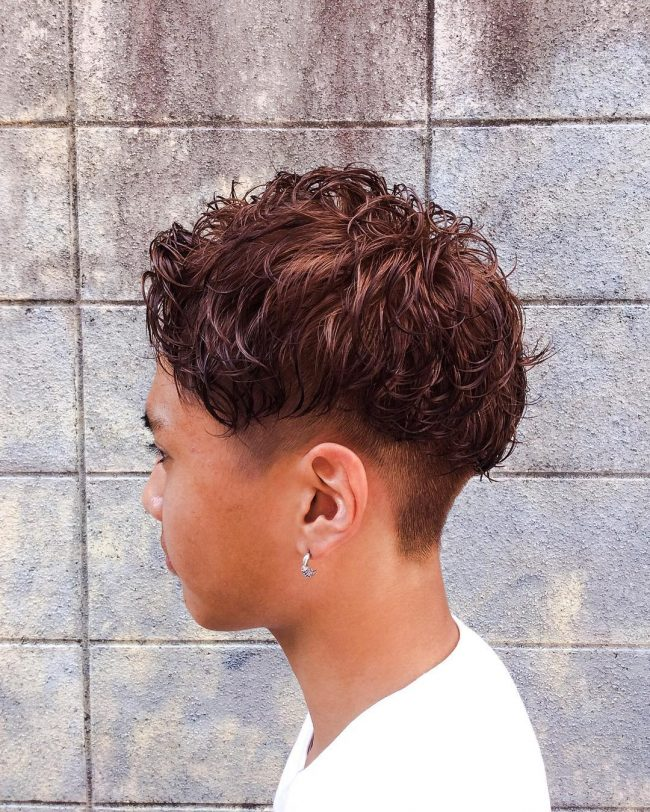 25 Perm Curls with a Fade