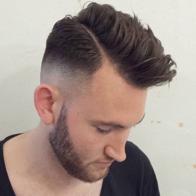 Messy and High Top with Skin Fade