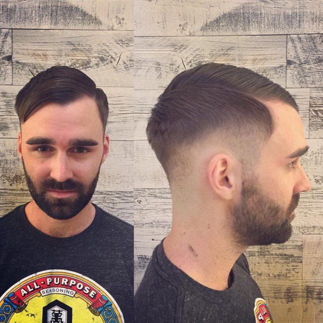 Retro-Inspired Comb Over
