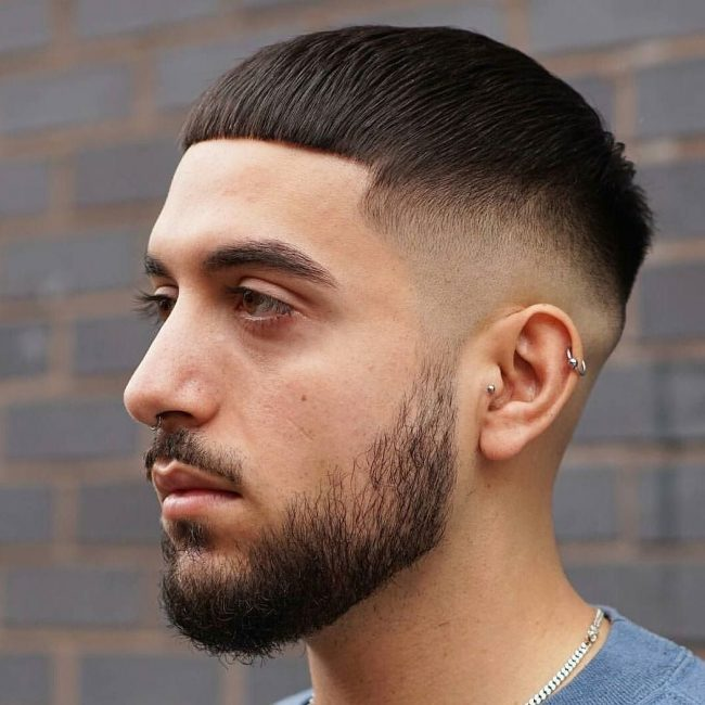 36 Crop Haircut with a Slight Bowl Look