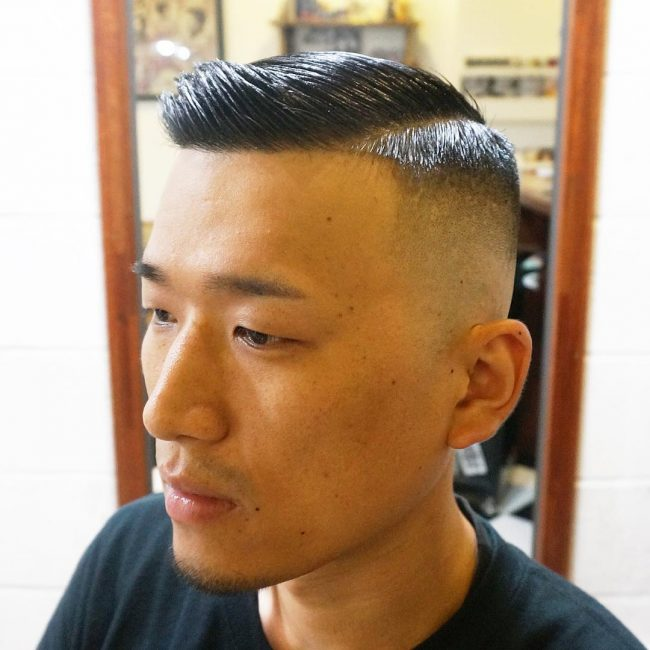 9 Shiny Short Strands with Slight Side Sweep