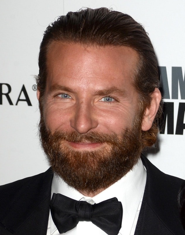 Bradley Cooper's Slick Back Hairstyle with Beard