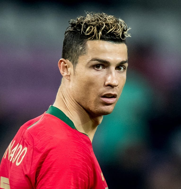 Cristiano Ronaldo's highlighted Hairstyle
