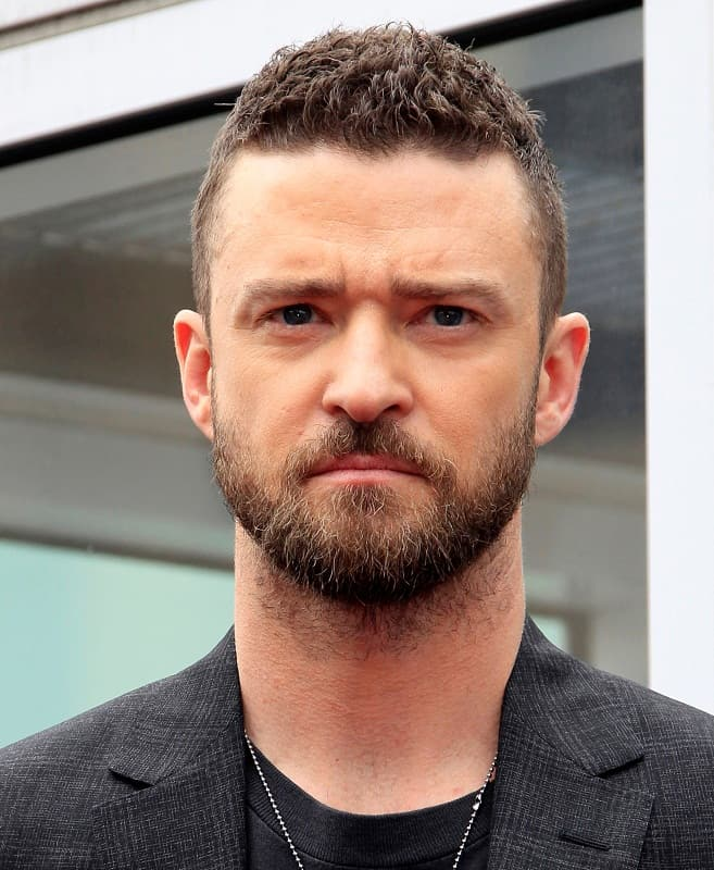 Justin Timberlake with Short Curly Hair