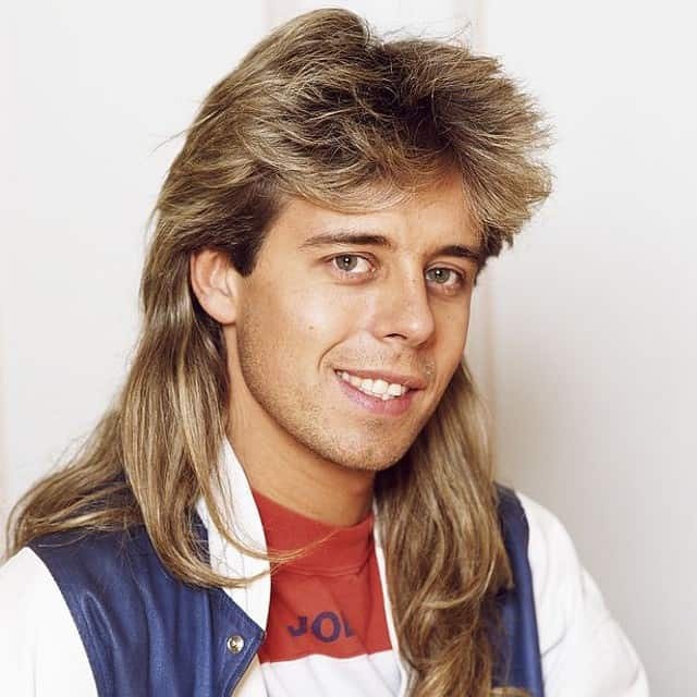 Pat Sharp with Mullet Hair