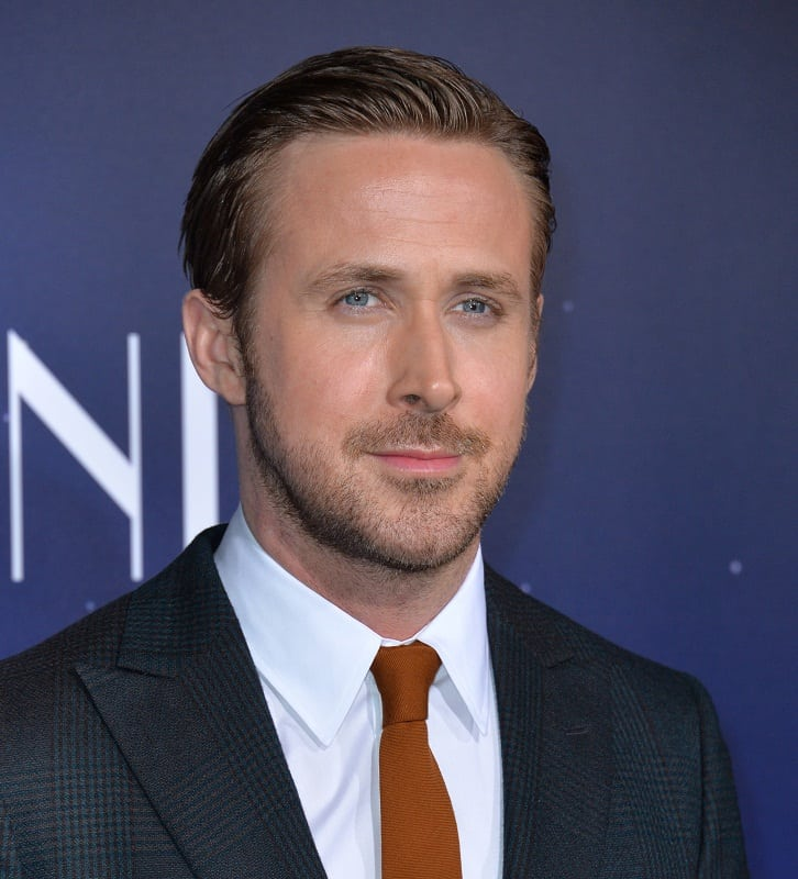 Ryan Gosling's Slick Back Hairstyle