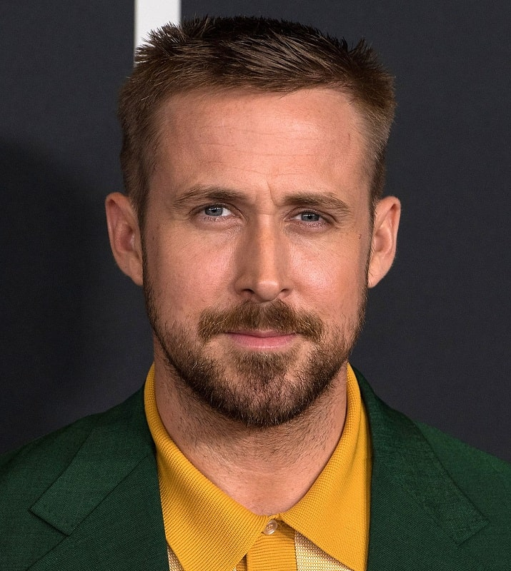 Ryan Gosling with Short Spiky Haircut