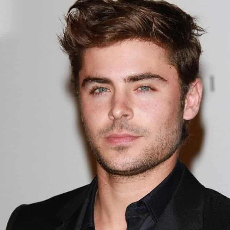 Zac Efron with Comb Over Hair
