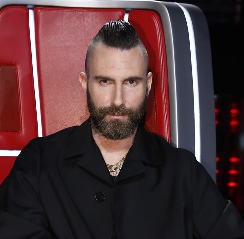 popular adam levine haircut