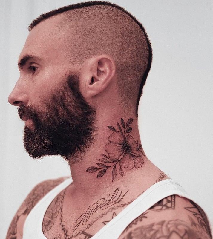 adam levine's buzzed mohawk haircut