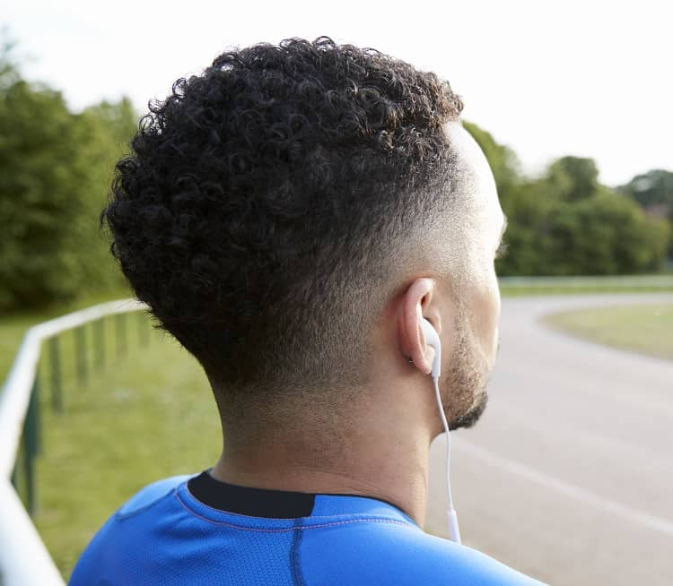 afro hair with low taper fade
