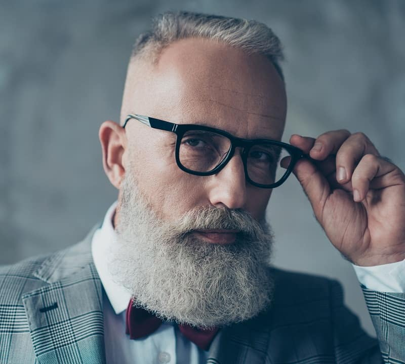 beard fade style for older men