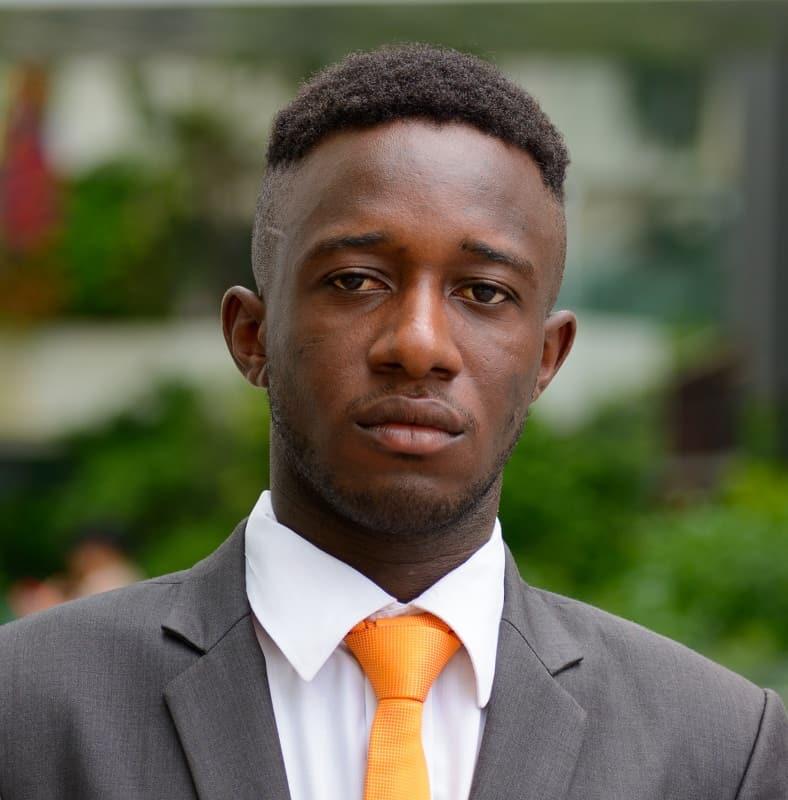 short haircut for black men