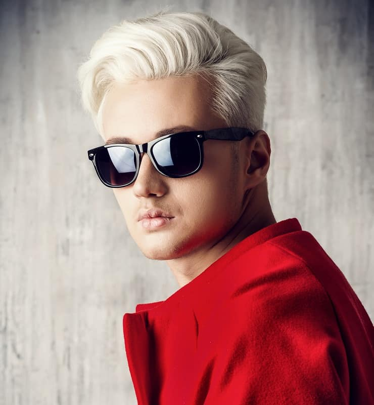 bleached hairstyle for men