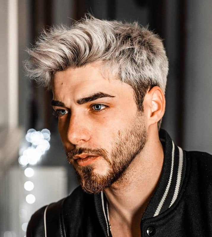 bleached hair for guys