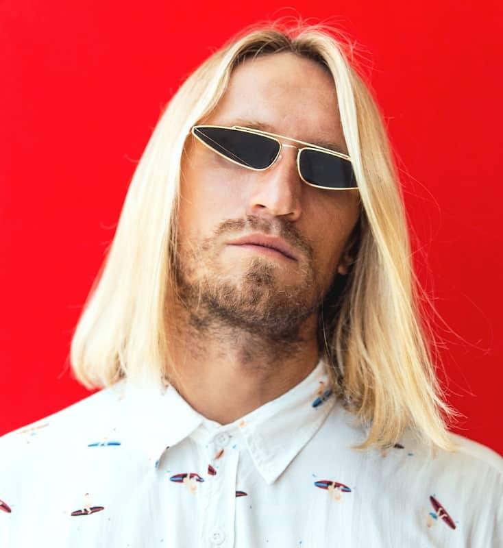long bleached hair for men