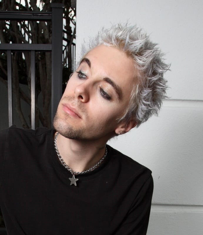 punk guy with bleached hair