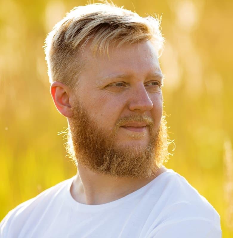 blonde beard for guys