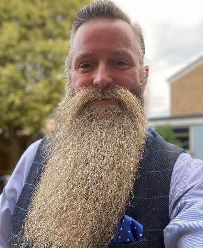 blonde bearded man