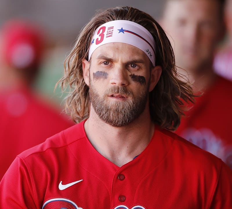 bryce harper with long hair
