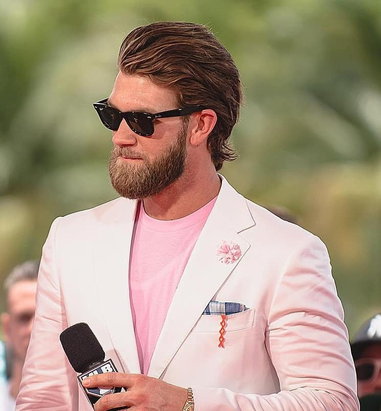 pompadour hairstyle of bryce harper