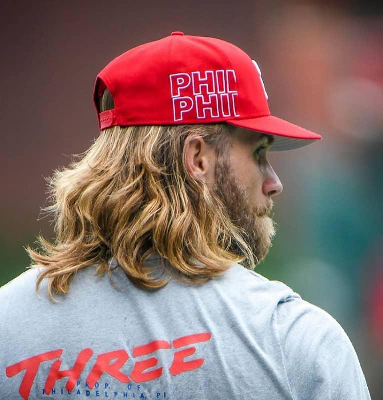 bryce harper blonde haircut