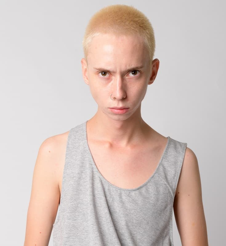 blonde buzz cut for men