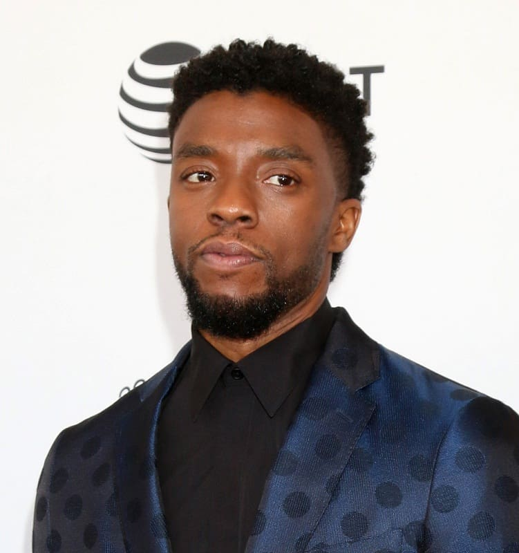 celebrity with short hair - Chadwick Boseman