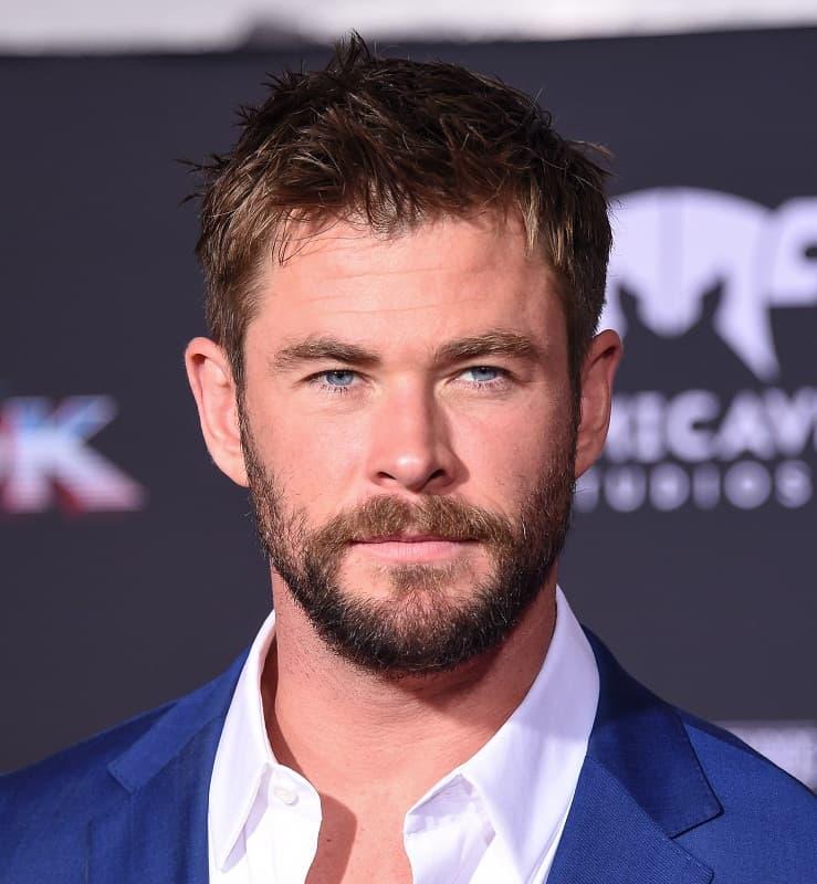 celebrity with short hair - Chris Hemsworth