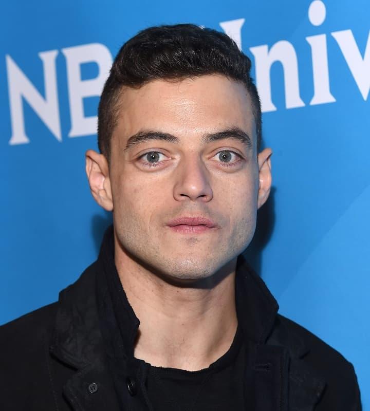celebrity with short hair - Rami Malek