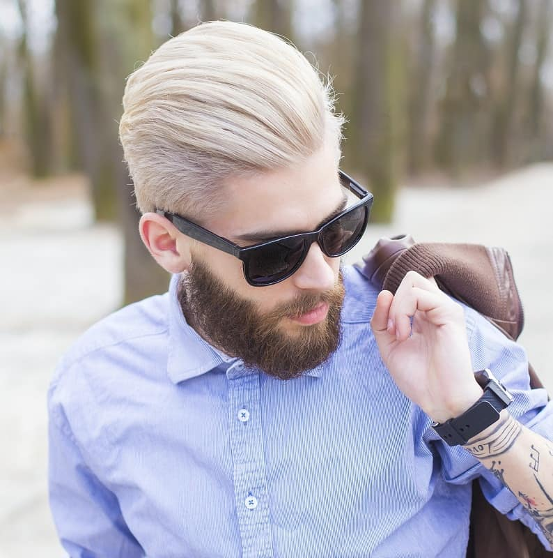 men's comb over hairstyle