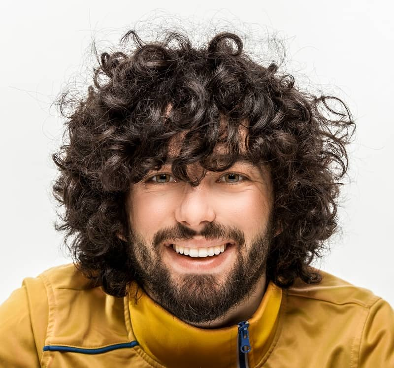 loose curly haircut for men