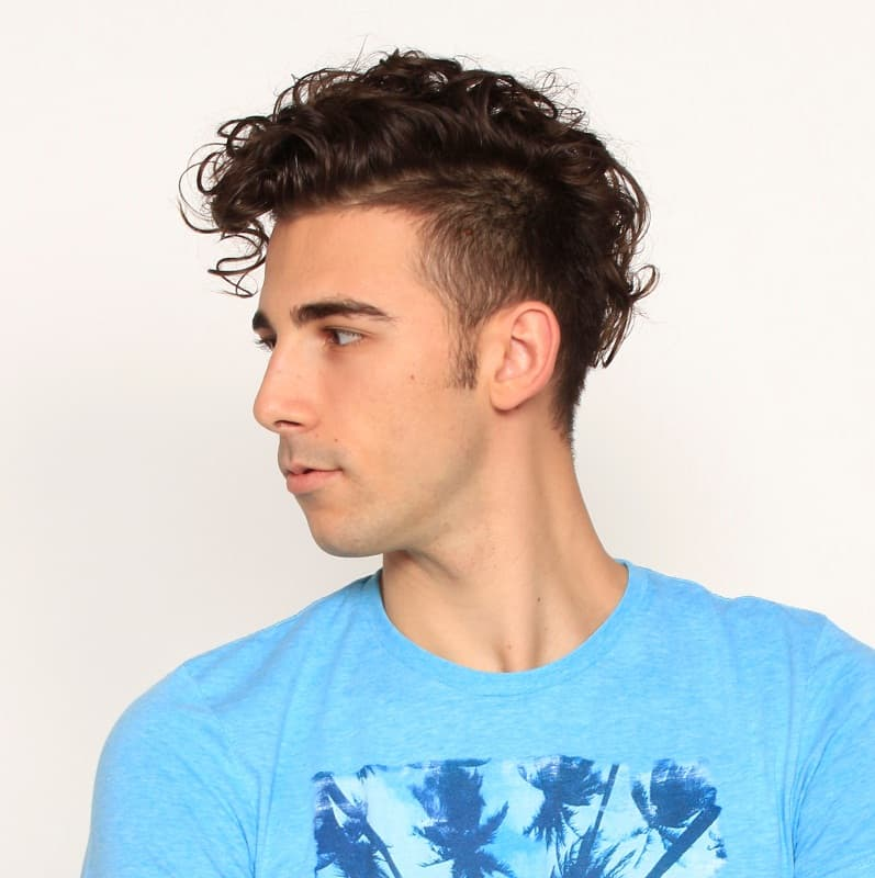 curly mohawk for men