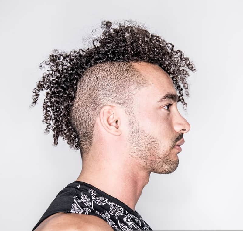 curly mohawk for guys