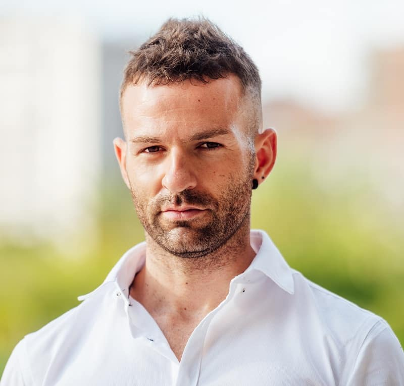 faux hawk fade hairstyle for men