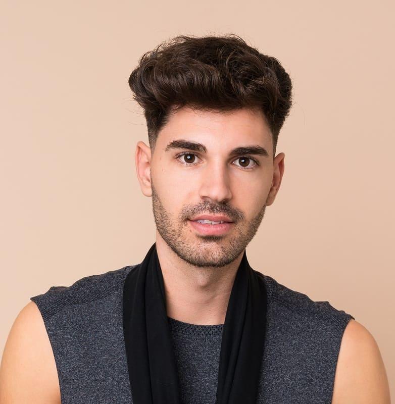 messy flat top haircut